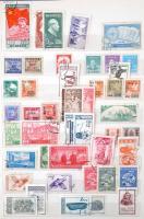 Kína főleg Népköztársaság néhány száz bélyeg + kevés India és Pakisztán 8 lapos A/4 berakóban