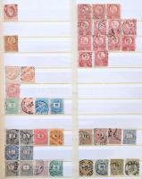 Gyűjtemény 1867-1967 blokkok nélkül, eleinte bélyegzett, a 40-es évektől egyre több postatisztával 24 lapos nagy KABE rugós berakóban. Magas katalógus érték!!
