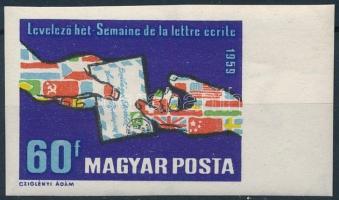 1959 Levelező Hét (II.) ívszéli vágott bélyeg (2.500)