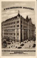Budapest V. Hold utca 4. A Takarékosság palotája, Magyar királyi Posta Takarékpénztár székháza, autó