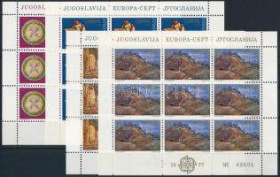 1975-1976 Europa CEPT 2 klf kisív sor Mi 1635 - 1636+1684 - 1685