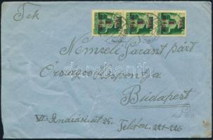 Inflation cover, (2. díjszabás) Távolsági levél Kisegítő 3 x 1P/1P bérmentesítéssel