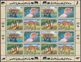 Veszélyeztetett fajok kisív, Endangered species mini sheet