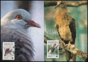 WWF: Pigeon set on 4 CM WWF: Galamb sor 4 db CM-n