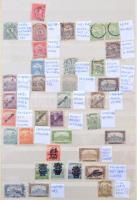 Tévnyomatok, lemezhibák, nyomási és fogazási eltérések gyűjteménye, 580 db bélyeg 8 lapos A/4 berakóban. Érdekes anyag!! / Collection of errors, plate varieties,shifted colours, shifted perforations etc 580 stamps in A/4 stockbook.
