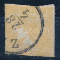 1851 Sárga Merkúr Z(ILAH) bevágott, javított bélyeg