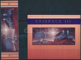 1999 Űrkutatás ívszéli pár Mi 819-820 + blokk Mi 16