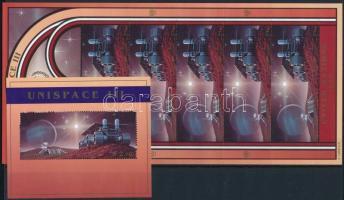 1999 Űrkutatás kisív Mi 819-820 + blokk Mi 16
