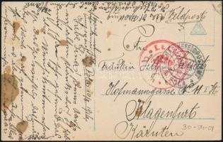 "Postcard ""K.u.k. Schulflugstation C(osad)a"", Képeslap ""K.u.k. Schulflugstation C(osad)a"""