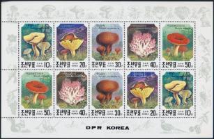 Gombák kisív Mushrooms mini sheet