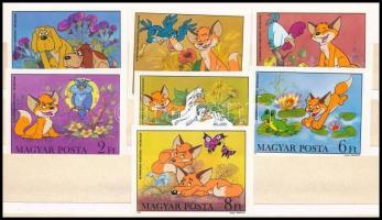 1982 Mese (V.) Magyar rajzfilm figurák vágott ívszéli sor