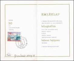 1968 Siófoki bélyegkiállítás és balatoni hajóposta RITKA emléklap