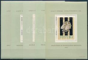1961 5 db Liszt blokk (10.000)