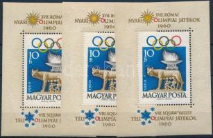 1960 3 db Római olimpia blokk (13.500)