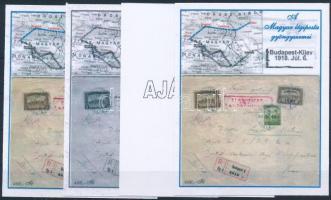 2004/30 Kievi levél 4 db-os emlékív garnitúra (28.000)