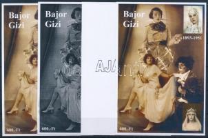 2014/03 Bajor Gizi 4 db-os emlékív garnitúra (28.000)