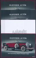 2014/06 Oldtimer autók 4 db-os emlékív garnitúra (28.000)