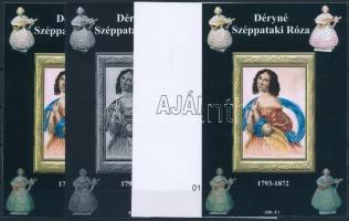 2014/09 Déryné 4 db-os emlékív garnitúra (28.000)