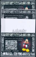 2014/12 Mickey Mouse 4 db-os emlékív garnitúra (28.000)