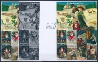 2014/13 Karácsony 4 db-os emlékív garnitúra (28.000)