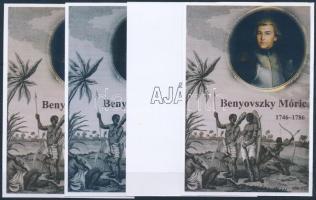 2013/02 Benyovszky Móricz 4 db-os emlékív garnitúra (28.000)