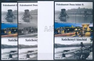 2015/04 Széchenyi lánchíd 4 db-os emlékív garnitúra (28.000)