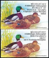 1989 2 db Récék bélyegfüzet felülnyomott bélyegekkel, angol és német nyelvű (11.000)