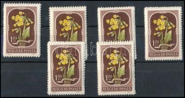 1951 6 db Virág (II.) sor (10.200)