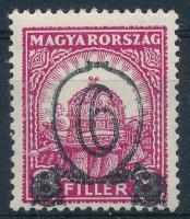 1931 Kisegítő 6/8f IX. vízjellel 14 : 14 1/4 fogazással (15.000)