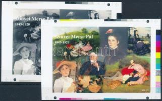 2016/01 Szinyei Merse Pál cromalin emlékívpár garancia bélyegzéssel (120.000)
