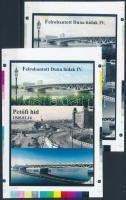 2016 Petőfi-híd cromalin emlékívpár garancia bélyegzéssel (120.000)