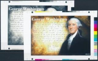 2016/04 G. Washington cromalin emlékívpár garancia bélyegzéssel (120.000)