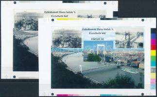 2016/05 Erzsébet híd cromalin emlékívpár garancia bélyegzéssel (120.000)