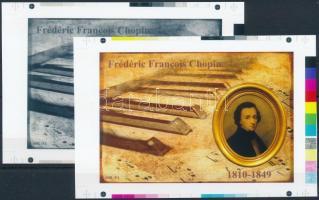 2016/12 Chopin cromalin emlékívpár garanciabélyegzővel (120.000)