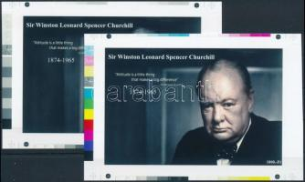 2016 II. világháború - Churchill cromalin emlékívpár garanciabélyegzővel (120.000)