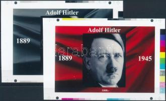 2016 II. világháború - Hitler cromalin emlékívpár garanciabélyegzővel (120.000)