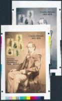 2017/05 Dickens cromalin emlékívpár garanciabélyegzővel (120.000)