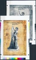 2017/06 Mata Hari cromalin emlékívpár garanciabélyegzővel (120.000)