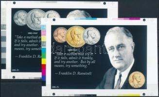 2017 II. világháború - Roosevelt emlékívpár garanciabélyegzővel (120.000)