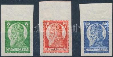 1928 Szent István ívszéli vágott sor, ritka (40.000++)