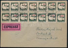 1946 július 2. Galambos teljes sor borítékon