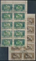 1924 Ikarusz 500K + 1.000K 10-es tömbökben, hamisítvány