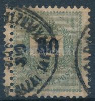 1889 30kr dupla fogazással