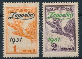 1931 Zeppelin sor (1P felcnyom és rozsdafoltok)