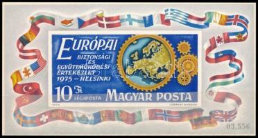 1975 Európa Helsinki fogazott és vágott blokk (10.350)