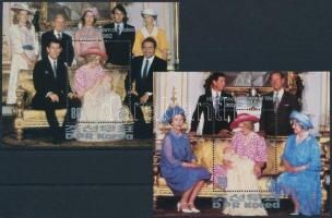 Diana hercegnő blokkpár Princess Diana blockpair