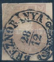 1858 Hírlapbélyeg szép felvidéki Breznóbánya bélyegzéssel, ritka