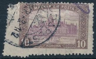 1916 10K durva elfogazással, ritka látványos darab