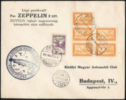 1931 Zeppelin Magyarországi körrepülése levél 2P Zeppelin bélyeggel (18.000) / Zeppelin Hungary round flight cover with Mi 479