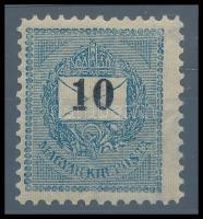 1899 10kr garantáltan eredeti 11 1/2-es fogazással (100.000) RRR! (pici ránc / light crease)